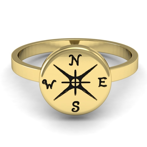 EVBEA Gold Punk Size 6-9 Women Outdoor Jewelry Ring The Original Custom Compass Journey Ring 2017 Customised Specially