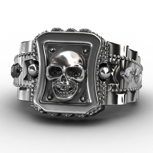 EVBEA 2017 Design Skull Men Ring Zinc Alloy Punk Rock Rings Fashion DIY For Happy NEW Year Gift Bike Rings