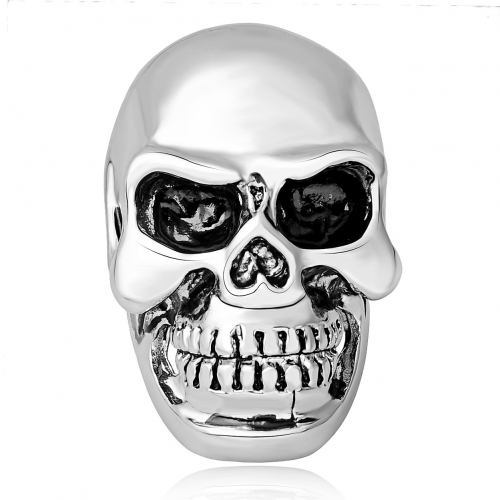 Hip Hop Punk Nightclub  Big Skull Adjustable Silver Bikers Rings Men Jewelry for Party