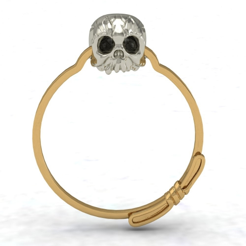 EVBEA 2016 Gold Filled Ring Sets Vintage Skull Shaped Ring AAA CZ Fashion Jewelry For Women Size 7 8 9
